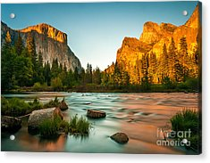 Yosemite Valley View Sunset Acrylic Print