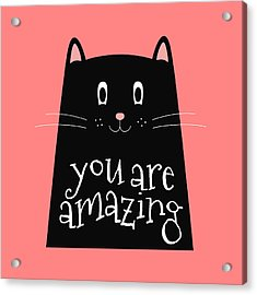 You Are Amazing - Baby Room Nursery Art Poster Print Acrylic Print