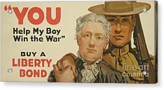 You, Help My Boy Win The War  Buy A Liberty Bond, 1917 Acrylic Print