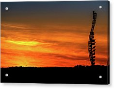 Vertical Roller Coaster At Sunset Acrylic Print