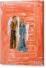 Young Love Angels Acrylic Print