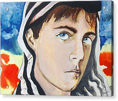 Acrylic Print featuring the painting Youth And Zebra Stripes by Rene Capone