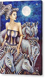 Zebra Moon Acrylic Print
