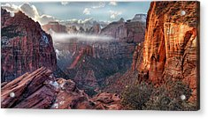 Acrylic Print featuring the photograph Zion Canyon Grandeur by Leland D Howard