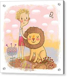 Zodiac Sign - Leo. Part Of A Large Acrylic Print