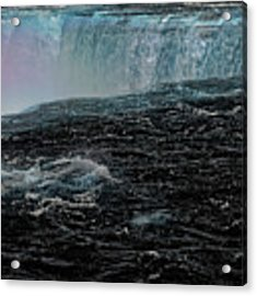 Black Niagara Acrylic Print by Richard Ricci