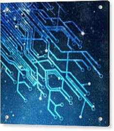 Circuit Board Technology Acrylic Print by Setsiri Silapasuwanchai