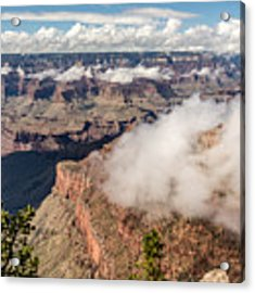 Clouds Lifting From Grand Canyon Acrylic Print by Claudia Abbott