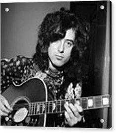 Jimmy Page 1970 Acrylic Print