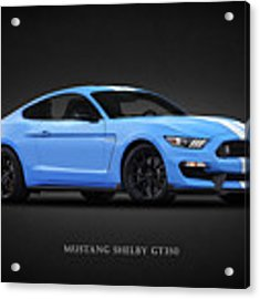 Mustang Shelby Gt350 Acrylic Print by Mark Rogan