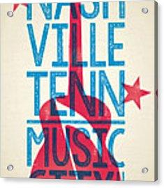 Nashville Poster - Tennessee Acrylic Print by Jim Zahniser