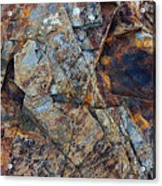 Rock Geometry Acrylic Print by Julian Perry