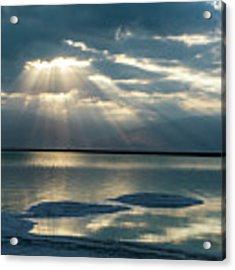 Sunrise At The Dead Sea Acrylic Print by Arik Baltinester