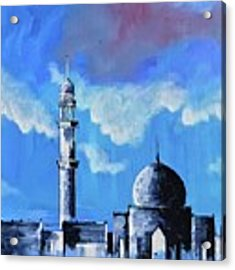 The Mosque Acrylic Print by Nizar MacNojia