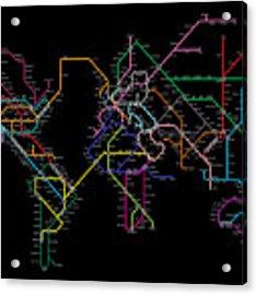 World Metro Map Acrylic Print