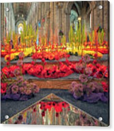 Ely Cathedral Flower Festival Acrylic Print by James Billings