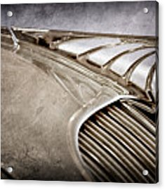 1934 Desoto Airflow Coupe Hood Ornament -2404ac Acrylic Print by Jill Reger