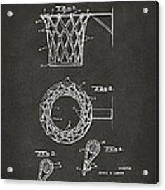 1951 Basketball Net Patent Artwork - Gray Acrylic Print