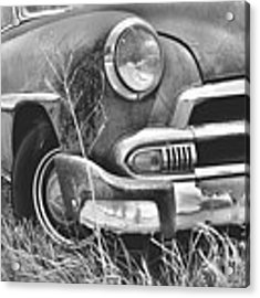 1951 Chevrolet Power Glide Black And White 2 Acrylic Print by Lisa Wooten