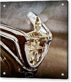 1956 Lincoln Premiere Convertible Hood Ornament -2797ac Acrylic Print by Jill Reger
