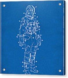 1973 Astronaut Space Suit Patent Artwork - Blueprint Acrylic Print