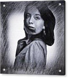 Selfportrait  Acrylic Print by Colette V Hera Guggenheim