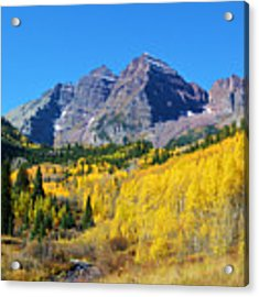 The Maroon Bells Acrylic Print by Kate Avery