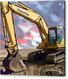 2004 Komatsu Pc200lc-7 Track Excavator Acrylic Print