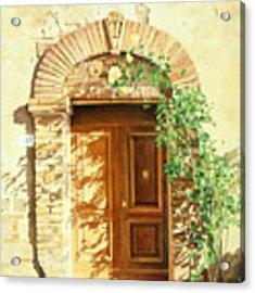 A Doorway In Tuscany Acrylic Print by Bob Nolin