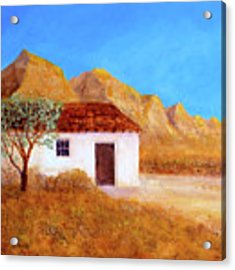 A Finca In Spain Acrylic Print by Valerie Anne Kelly