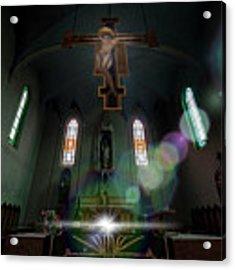 Abandoned Blue Church - Chiesa Blu Abbandonata Acrylic Print by Enrico Pelos