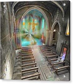 Abandoned Blue Church II - Chiesa Blu Abbandonata II Acrylic Print by Enrico Pelos