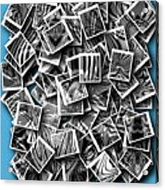 Abraxas Collage Acrylic Print by Visual Artist Frank Bonilla