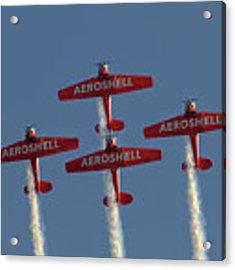 Aeroshell Aerobatic Team Acrylic Print by Susan Rissi Tregoning