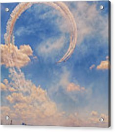 Airshow At The Lou Acrylic Print by Susan Rissi Tregoning
