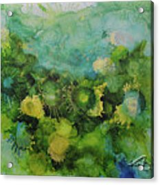 Alcohol Ink 1 Acrylic Print by Kate Word