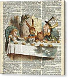Alice Morning Tea Time Acrylic Print