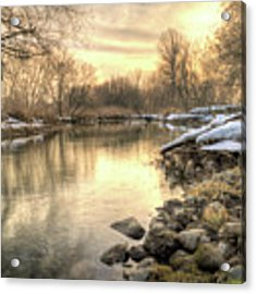 Along The Thames River Signed Acrylic Print by Garvin Hunter