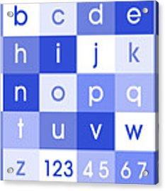 Alphabet Blue Acrylic Print
