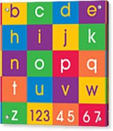 Alphabet Colors Acrylic Print