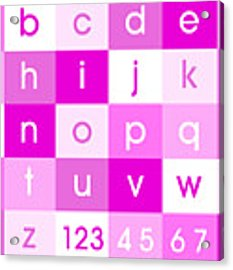 Alphabet Pink Acrylic Print