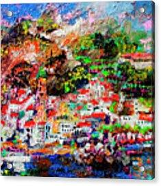 Amalfi Impression Travel Italy Acrylic Print by Ginette Callaway