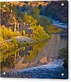 American River Triptych 2 Acrylic Print by Sherri Meyer
