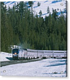 Amtrak 112 1 Acrylic Print by Jim Thompson