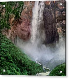 Angel Falls Canaima National Park Venezuela Acrylic Print by Dave Welling