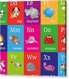 Animal Alphabet Acrylic Print