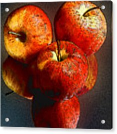 Apples And Mirrors Acrylic Print by Paul Wear