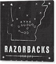 Arkansas Razorbacks / Ncaa College Football Art / Fayetteville Acrylic Print by Damon Gray