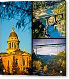 Auburn California Triptych 2 Acrylic Print by Sherri Meyer
