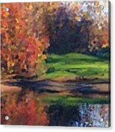 Autumn By Water Acrylic Print by Ivana Westin